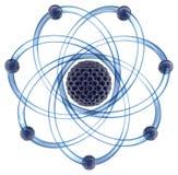 Atome moléculaire sur un fond blanc Images stock