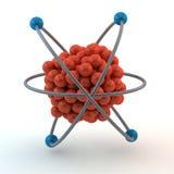Atome orange Images libres de droits