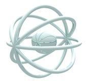 Atome sur le blanc Illustration Libre de Droits
