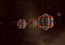 Atome und Kerne Stockbilder