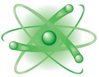Atome vert Photographie stock libre de droits