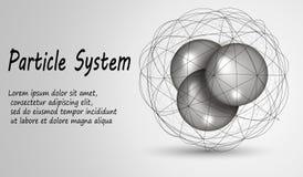 Atomen binnen het netwerkgebied Deeltjes in het rooster Vector illustratie royalty-vrije illustratie