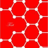 Atomen op rode achtergrond Royalty-vrije Stock Fotografie