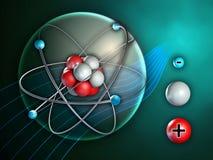 Atomen strukturerar royaltyfri illustrationer