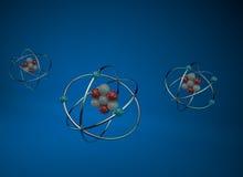 Atomes 3D Photographie stock libre de droits