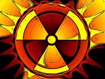 Atomfarbenhintergrund Stockfotos