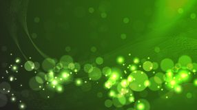 AtomGreen. Abstract and shiny waves on gradient background Royalty Free Illustration