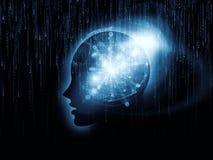 Atomi di mente Immagini Stock