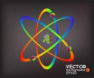 Atomi variopinti illustrazione vettoriale