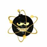Atomic Bomb. Emoticon atomic bomb symbol Stock Photography