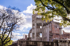 Atomic Bomb Dome, the building was attack by atomic bomb in worl Royalty Free Stock Photo