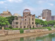 Atomic Bomb Dome in Hiroshima, Japan. HIROSHIMA, JAPAN - JULY 18, 2016: Hiroshima Peace Memorial, commonly called the Atomic Bomb Dome (Genbaku Dome). This dome Stock Photography