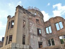 Atomic Bomb Dome in Hiroshima, Japan. Hiroshima Peace Memorial, commonly called the Atomic Bomb Dome (Genbaku Dome). This dome was the only structure left Stock Image