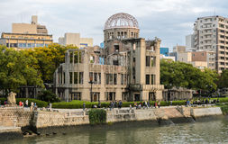 Atomic bomb dome in Hiroshima, Japan Royalty Free Stock Images