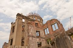 Atomic Bomb Dome in Hiroshima, Japan. UNESCO site. Hiroshima Peace Memorial (Atomic Bomb Dome or Genbaku Domu) in Hiroshima, Japan. UNESCO World Heritage Site Stock Photo