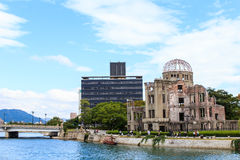 Japan landmark in hiroshima. The atomic bomb dome is the nuclear memorial at Hiroshima, Japan Stock Photos