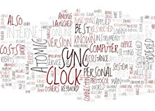 Atomic Clock Sync Word Cloud Concept Stock Photo