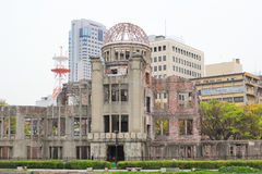 Atomic Dome the memorial of nuclear attack Stock Photos