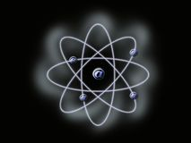 Atomic email. Email sign in atomic orbit Royalty Free Illustration