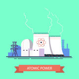 Atomic energy Royalty Free Stock Image