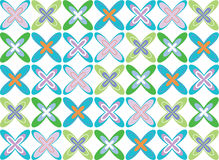 Atomic fat turquoise cross Royalty Free Stock Photography