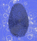Atomic Fingerprint. Finger print with Atomic particles Stock Photos