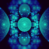 Atomic fractal Royalty Free Stock Images