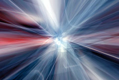 Atomic fusion. Red white trails escaping the core Stock Photography