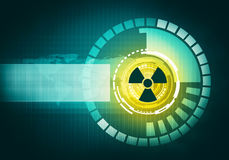 Atomic futuristic radiative graphic touch user interface Royalty Free Stock Photography