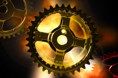 Atomic Gears Stock Photography
