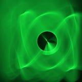 Atomic Green. Rendered background resembling atom/atomic symbol Royalty Free Illustration