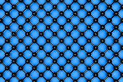 Atomic grid. Abstract black atomic grid on the blue background Stock Photo