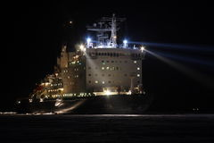 Atomic icebreaker Vaigach. In river Enisey, Russian Federation Stock Photography