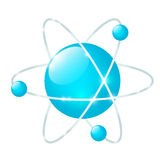 Atomic icon isolated on white Royalty Free Stock Image