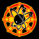 Atomic Image Vector. Illustration of Atomic Energy Vector Graphic Royalty Free Stock Image
