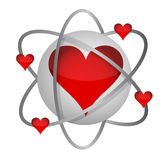 Atomic love concept Royalty Free Stock Photos
