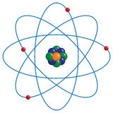 Atomic Model Stock Photo
