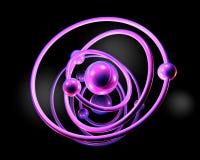 Atomic Model. 3D Illustration Royalty Free Stock Photography