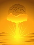 Atomic mushroom cloud Royalty Free Stock Photos