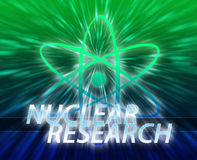 Atomic nuclear energy science Royalty Free Stock Photos