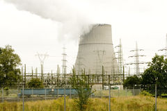 Atomic power plant. Capture of a atomic power plant in germany Stock Photos