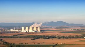 Atomic power plant Stock Image