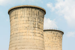 Atomic Power Plant Cooling Towers Stock Photos