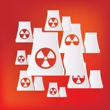 Atomic power station icon Royalty Free Stock Photos