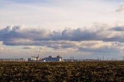Atomic power station Ukraine, Nikolaevskaya. Atomic power station near the river Southern Buch cloudy day Stock Photography
