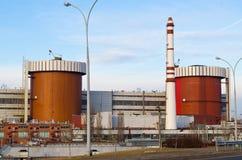 Atomic power station Ukraine, Nikolaevskaya. Southern Ukrainian Atomic power station the first and second block Royalty Free Stock Image