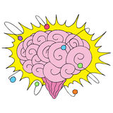 Atomic Powered Brain Royalty Free Stock Images