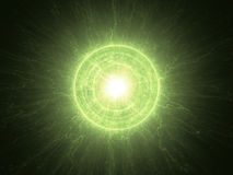 Atomic radioactive nuclear core Royalty Free Stock Images