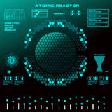 Atomic reactor Futuristic virtual graphic touch user interface Royalty Free Stock Photos