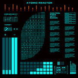 Atomic reactor Futuristic virtual graphic touch user interface Stock Image